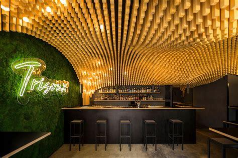 parametric wooden ceiling trisoux bar  martino hutz