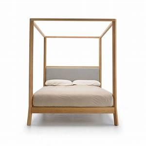 Lit Bois Massif Design : breda lit baldaquin 180x200 punt design en bois massif ~ Teatrodelosmanantiales.com Idées de Décoration