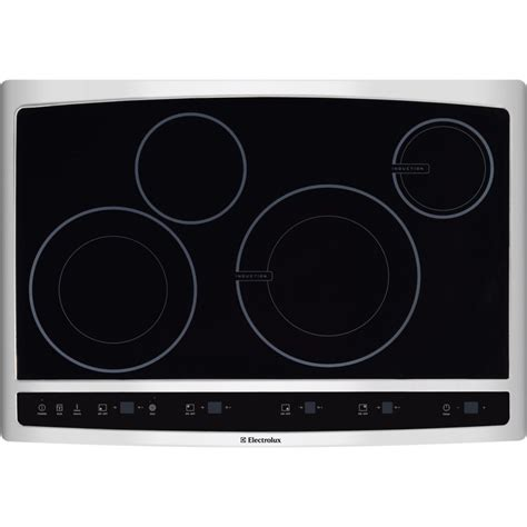 induction cooktop electrolux ew30cc55gs electrolux 30 quot hybrid induction cooktop stainless steel