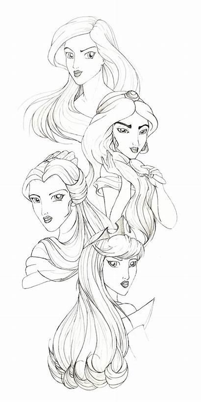 Disney Princesses Drawings Fan Racookie3 Deviantart Princess
