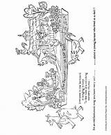 Coloring Parade Dell Farmer Float Sheet Floats Macy Sheets Characters Honkingdonkey Meaning Children sketch template