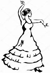 Flamenco Dancer Template Coloring Pages sketch template