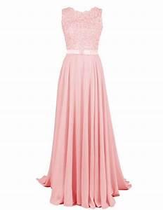 Kleid Koralle Hochzeit : dressystar damen chiffon spitze lang formell abendkleider brautjungfernkleider rosa in gr e 36 ~ Orissabook.com Haus und Dekorationen