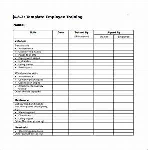 New Hire Training Plan Template Free 16 Training Checklist Samples In Pdf Ms Word