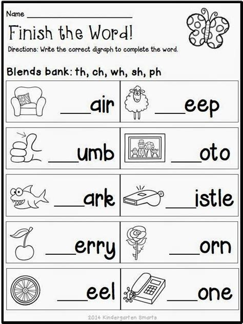 kindergarten phoneme blending worksheets 1000 ideas