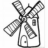 Coloring Windmill Dam Coloringpages101 sketch template