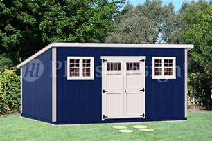 10 x 20 deluxe modern backyard storage shed plans d1020m free material list ebay