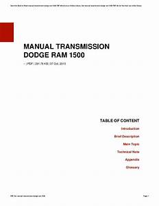 Manual Transmission Dodge Ram 1500