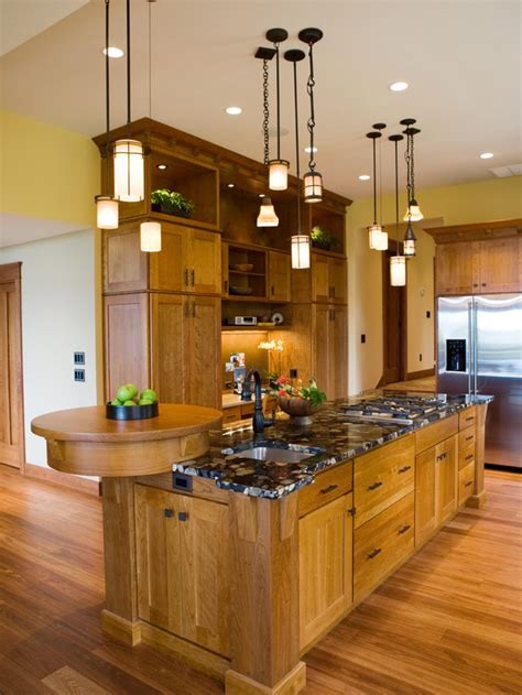 island kitchen lights gourmet craftsman kitchen with pendant lights hgtv