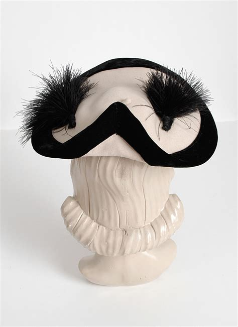 1940s Gladys   Belle white   black feather hat   Hemlock
