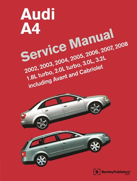 free car repair manuals 2002 audi s4 electronic valve timing front cover audi audi repair manual a4 2002 2008 bentley publishers repair manuals and