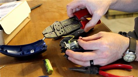 How to change the rechargeable batteries in an electric