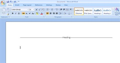Microsoft Word Spacers by How Do I Get Horizontal Lines To The Left And Right Of A