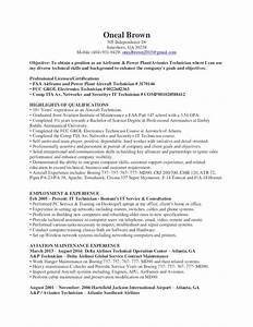 Accounts Payable Resume Oneal Brown A P And Avionics Technician Resume