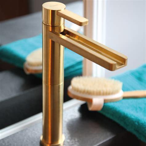 luxury bathroom sink faucets aqua brushed gold luxury bathroom faucet