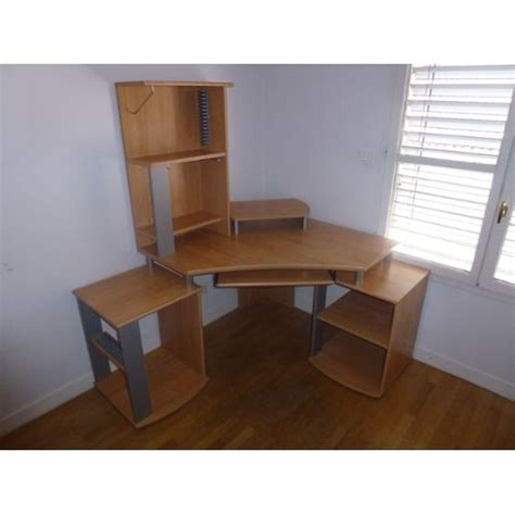 bureau d angle ordinateur bureau d 39 angle ordinateur avec rangement taille ajustable