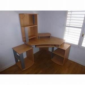 bureau d39angle ordinateur avec rangement taille ajustable With awesome bureau d angle avec surmeuble 7 decorer