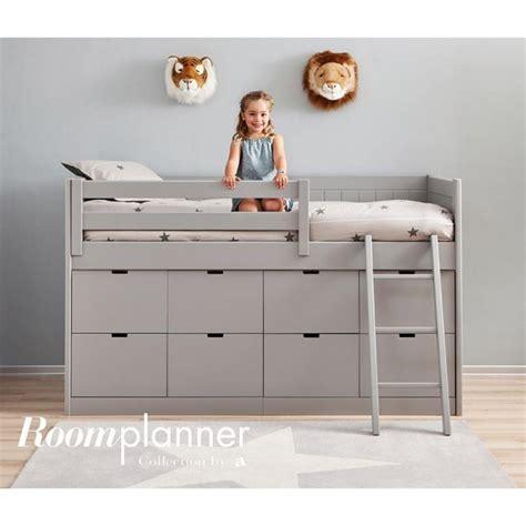 bureau surélevé chambre enfant avec lit à tiroirs bureau et rangement