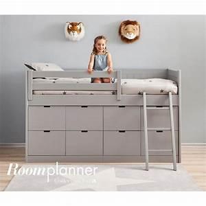 Lit Mi Hauteur Avec Rangement : lit combin enfant 8 tiroirs de rangement bahia asoral ~ Premium-room.com Idées de Décoration