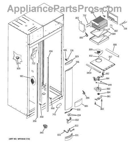 parts  ge zissdrass freezer section parts appliancepartsproscom