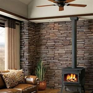 Steinwand Wohnzimmer Ideen : steinwand wohnzimmer eine gehobene und stilvolle einrichtung ~ Sanjose-hotels-ca.com Haus und Dekorationen