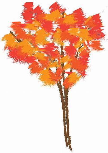 Tree Drawing Autumn Clipart Clip Leaf Maple