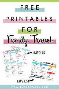 packing list for family travel freebie day2day joys