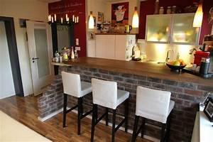 Wohnzimmer Mit Bar : k chentheke bauen so geht s planungswelten ~ Michelbontemps.com Haus und Dekorationen