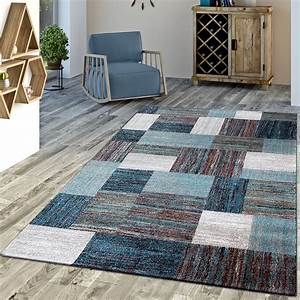 Türkische Teppiche Modern : designer teppich blau meliert kurzflor modern kurzflor moderne teppiche ~ Markanthonyermac.com Haus und Dekorationen
