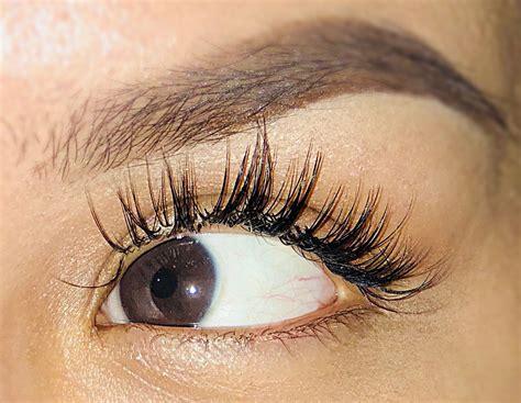 Eye Lash wispy lash extensions look eyelash wispy