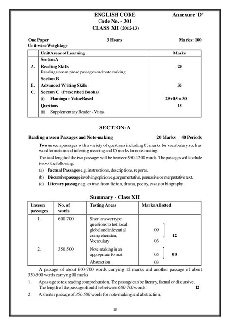 English 2013 cbse board sample papers and marking scheme