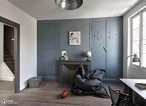 chambre de garcon couleur gris dauphin chez flamant loft With couleur de chambre garcon