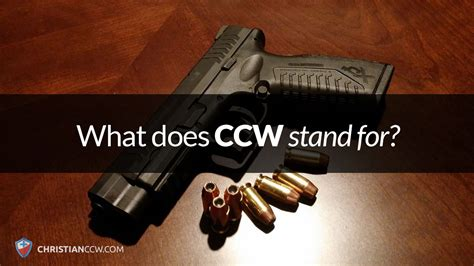 What Does Ccw Stand For blog template christian concealed carry