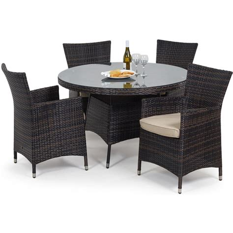 maze rattan miami 4 seat garden furniture set