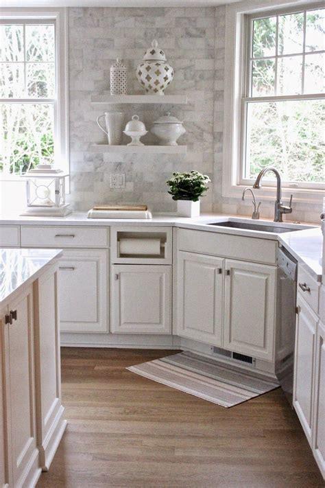 cottage kitchen backsplash cottage kitchen with quartz countertops the countertops