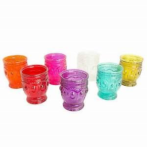 Teelichthalter Glas Bunt : kerzenst nder kerzenhalter glas rot mit goldrand teelicht ~ Watch28wear.com Haus und Dekorationen