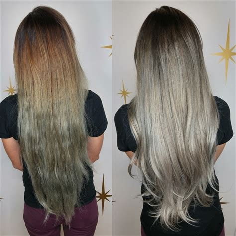 hair color correction color correction process banishing bands and dreaded