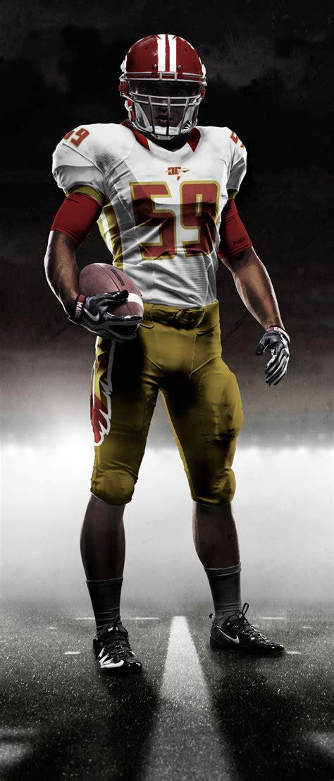 washington warriors redskins redesign jersey alternate behance away