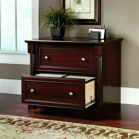 Lateral File Cabinets by Lateral File Cabinet 2 Drawer Cherry Wood Document Storage