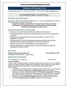 Senior Accountant Cover Letter Professional Cpa Resume Sle Resume Writing Service