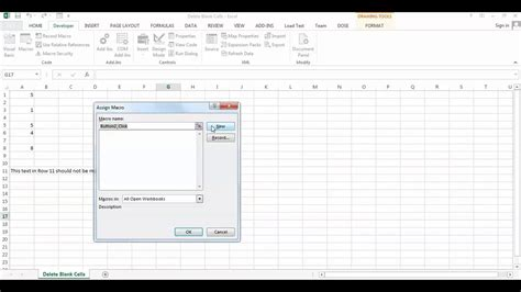 Excel Delete Blank Cells