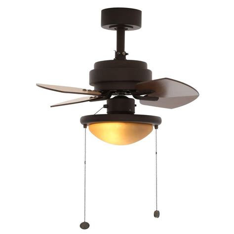 28 inch ceiling fan with light hton bay metarie 24 in oil rubbed bronze ceiling fan