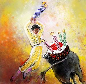 Galleries of funny bulls paintings by Miki de Goodaboom