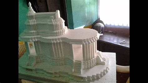 thermocol art temple youtube