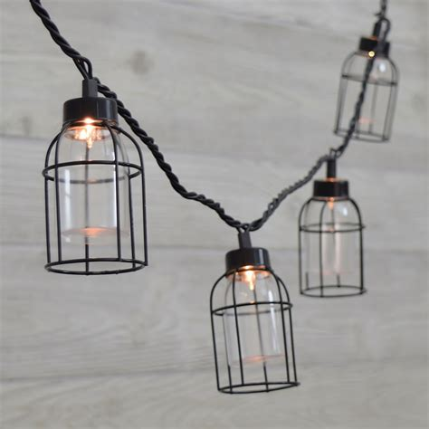 vintage style cage edison lights