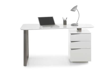 ordinateur de bureau blanc bureau d 39 ordinateur blanc laqué mat novomeuble
