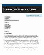 Letters In PDF Cover Letter Volunteer Experience Sample Cover Letter For Volunteering Volunteer Job Cover Letter Example