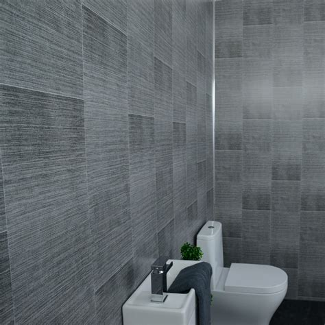 grey panels anthracite tile effect cladding gold hues