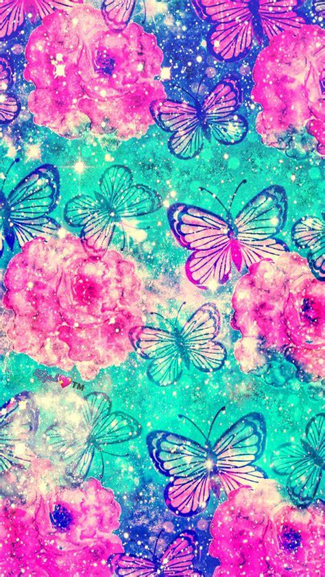 Butterfly Mint Galaxy Wallpaper #androidwallpaper # ...