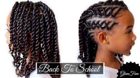 braided children s hairstyle back to school hairstyles